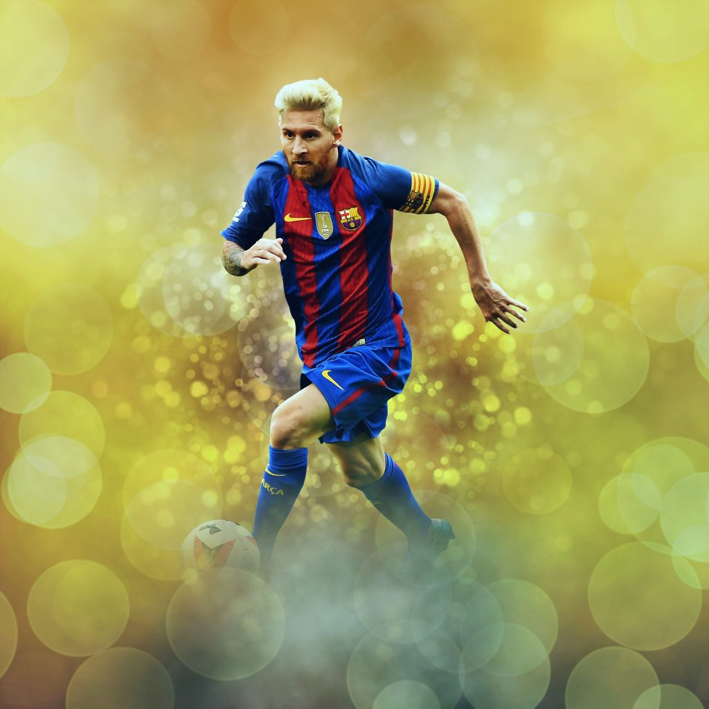Lionel Messi, världens bästa fotbollsspelare genom tiderna.